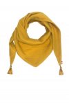 Chèche foulard enfant double gaze de coton moutarde