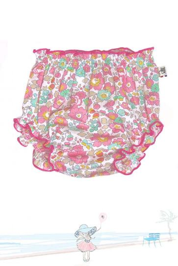 Bloomer bébé en Liberty Betsy Cupcake Mademoiselle Croisette Made in France