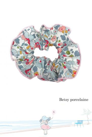 Chouchou Mademoiselle Croisette en Liberty Betsy porcelaine Made in France