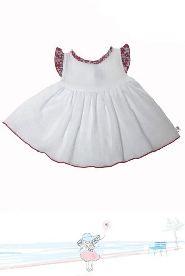 Robe bébé en Liberty Betsy Berry Mademoiselle Croisette Made in France